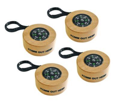 Holz-Kompass, 4er-Set (Jokers)