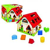 Holzhaus mit geometrischen Formen (Kinderspiel)