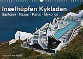 Inselhüpfen Kykladen Santorini - Naxos - Paros - Mykonos (Wandkalender 2021 DIN A3 quer) - Kalender - Günter Franz Müller Fotografie,