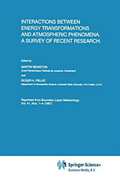Interactions Between Energy Transformations and Atmospheric Phenomena.  - Buch