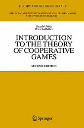 Introduction to the Theory of Cooperative Games. Bezalel Peleg, Peter Sudhölter, - Buch - Bezalel Peleg, Peter Sudhölter,