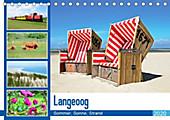 Langeoog - Sommer, Sonne, Strand (Tischkalender 2020 DIN A5 quer) - Kalender - Nina Schwarze,