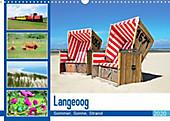 Langeoog - Sommer, Sonne, Strand (Wandkalender 2020 DIN A3 quer) - Kalender - Nina Schwarze,