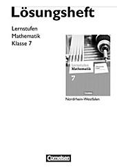 Lernstufen Mathematik, Differenzierende Ausgabe Nordrhein-Westfalen, Neubearbeitung: 7. Schuljahr, Lösungen zum Schülerbuch. Sina Hübers, - Buch - Sina Hübers,