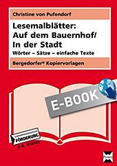 Lesemalblätter: Auf dem Bauernhof / In der Stadt - eBook - Christine von Pufendorf,