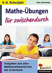 Mathe-Übungen für zwischendurch, 5./6. Schuljahr. Uwe Schwesig, - Buch - Uwe Schwesig,