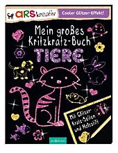 9783845815985 - Charlotte Slowell: Mein großes Kritzkratz-Buch Tiere, m. Holzstift - Livre