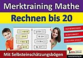Merktraining Mathe - Rechnen bis 20. Ulrike Schalla, - Buch - Ulrike Schalla,