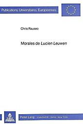 Morales de «Lucien Leuwen». Chris Rauseo, - Buch - Chris Rauseo,