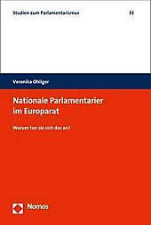 Nationale Parlamentarier im Europarat. Veronika Ohliger, - Buch - Veronika Ohliger,