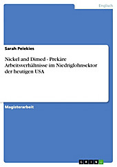 Nickel and Dimed - Prekäre Arbeitsverhältnisse im Niedriglohnsektor der heutigen USA - eBook - Sarah Pelekies,
