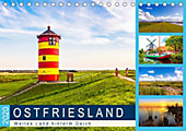 OSTFRIESLAND Weites Land hinterm Deich (Tischkalender 2020 DIN A5 quer) - Kalender - Andrea Dreegmeyer,