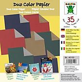 PAPIER MIX Gold-Silber 20 x 20 cm, 35 Blatt Duo Color