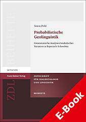 Probabilistische Geolinguistik - eBook - Simon Pickl,