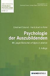 Psychologie der Auszubildenden. Ekkehard Crisand, Horst-Joachim Rahn, - Buch - Ekkehard Crisand, Horst-Joachim Rahn,