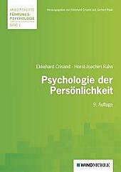 Psychologie der Persönlichkeit. Ekkehard Crisand, Horst-Joachim Rahn, - Buch - Ekkehard Crisand, Horst-Joachim Rahn,