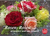 Rosen, Rosen ... arrangiert und am Strauch (Wandkalender 2021 DIN A3 quer) - Kalender - Gisela Kruse,