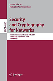 Security and Cryptography for Networks.  - Buch