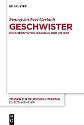 Studien zur deutschen Literatur: 198 Geschwister - eBook - Franziska Frei Gerlach,