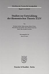 Studien zur Entwicklung der ökonomischen Theorie.  - Buch