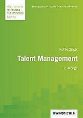 Talent Management. Rolf Rüttinger, - Buch - Rolf Rüttinger,