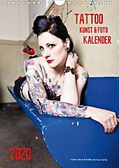 TATTOO KUNST & FOTO KALENDER (Wandkalender 2020 DIN A4 hoch) - Kalender - Toby Seifinger,