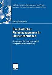 Techno-ökonomische Forschung und Praxis: Ganzheitliches Risikomanagement in Industriebetrieben - eBook - Georg Strohmeier,