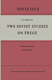 Two Soviet Studies on Frege. B. V. Birjukov, - Buch - B. V. Birjukov,