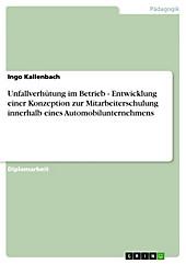 Unfallverhütung im Betrieb - Entwicklung einer Konzeption zur Mitarbeiterschulung innerhalb eines Automobilunternehmens - eBook - Ingo Kallenbach,