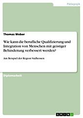 Von der Schule in die Arbeitswelt - Möglichkeiten und Maßnahmen zur Verbesserung der beruflichen Qualifizierung und Integration von Menschen mit... - Thomas Weber,
