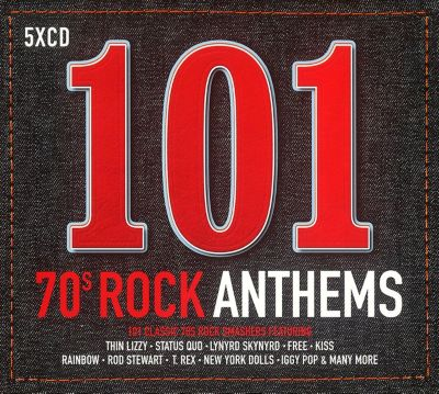 101 70s Rock Anthems, 5 CDs