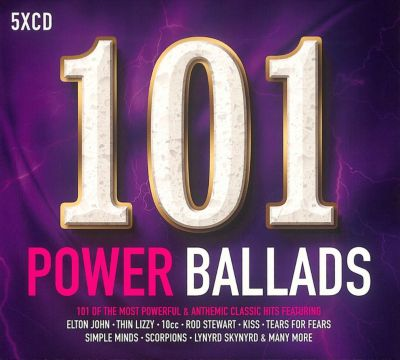 101 Power Ballads, 5 CDs