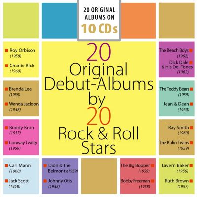 20 Original-Albums by 20 Rock & Roll Stars, 10 CDs, Charlie Rich, Beach Boys, Roy Orbison