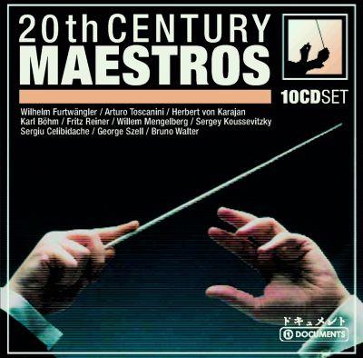 20th Century Maestros, 10 CDs, Toscanini, Von Karajan, Böhm