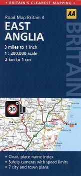 AA Road Map Britain East Anglia
