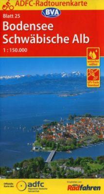 ADFC-Radtourenkarte 25 Bodensee Schwäbische Alb 1:150.000