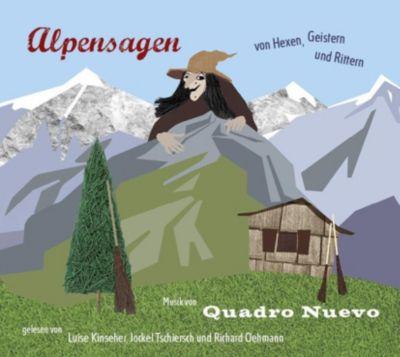 Alpensagen - von Hexen, Geistern und Rittern, 1 Audio-CD, Julia Schölzel