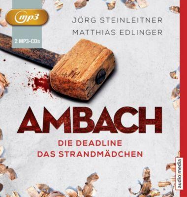 Ambach - Die Deadline / Das Strandmädchen, 2 MP3-CDs, Jörg Steinleitner, Matthias Edlinger