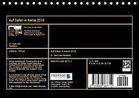 Auf Safari in Kenia 2018 (Tischkalender 2018 DIN A5 quer) - Produktdetailbild 13