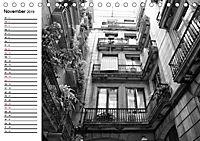 Barcelona Schwarz / Weiß Impressionen (Tischkalender 2019 DIN A5 quer) - Produktdetailbild 11