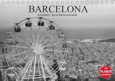 Barcelona Schwarz / Weiß Impressionen (Tischkalender 2019 DIN A5 quer), Dirk Meutzner