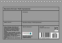 Barcelona Schwarz / Weiß Impressionen (Tischkalender 2019 DIN A5 quer) - Produktdetailbild 13