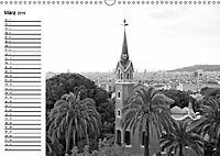 Barcelona Schwarz / Weiß Impressionen (Wandkalender 2019 DIN A3 quer) - Produktdetailbild 3
