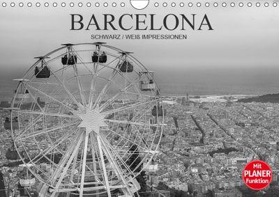 Barcelona Schwarz / Weiß Impressionen (Wandkalender 2019 DIN A4 quer), Dirk Meutzner