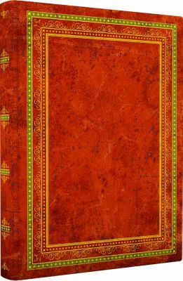 Blank Book Lederlook rotbraun (klein), Anaconda