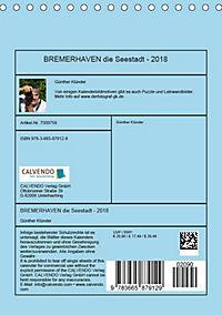 BREMERHAVEN die Seestadt mit maritimen Flair - 2018 (Tischkalender 2018 DIN A5 hoch) - Produktdetailbild 13