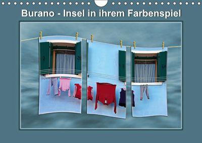 Burano - Insel in ihrem Farbenspiel (Wandkalender 2018 DIN A4 quer), Ernst Hobscheidt