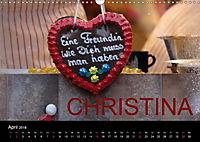 CHRISTINA - Namenskalender (Wandkalender 2018 DIN A3 quer) - Produktdetailbild 4