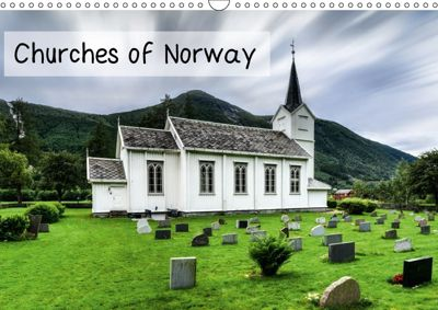 Churches of Norway (Wall Calendar 2018 DIN A3 Landscape), Dirk Rosin