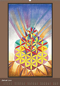 Das Goldene Rechteck - Tafelmalerei von Istvan Seidel (Wandkalender 2018 DIN A2 hoch) - Produktdetailbild 1